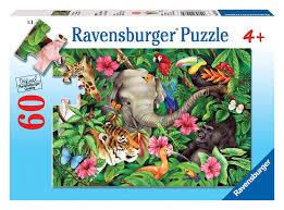 ravensburger tropical friends 60 puzzle toys
