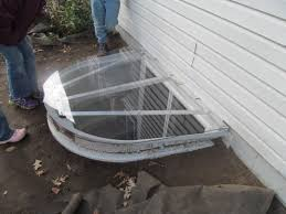 we made this egress window well cover out of 1 4 inch lexan and 1