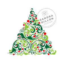 ornate tree multi colour stencil 1 sandra dillon design