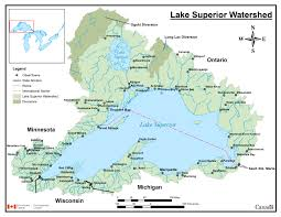 World Map With Lakes by Downloadable Lake Superior Watershed Maps U2013 Infosuperior