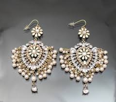 chandelier wedding earrings vintage st pink pearl chandelier earring 14