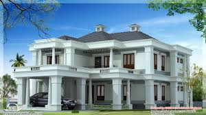 Luxury House Floor Plans Luxury Sloped Roof House Kerala Home Design And Floor Plans