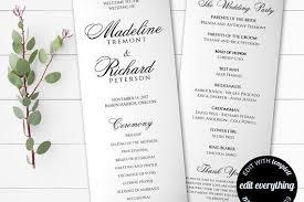 diy wedding programs template tea length wedding program template diy wedding program order