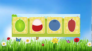 learning names of fruits for kids with cartoon images youtube