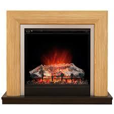 bemodern devonshire electric fireplace suite in natural oak finish