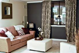 Red Accent Wall by Brown Living Room With Red Accents
