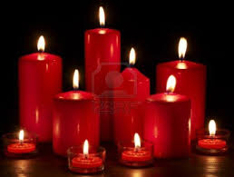 group of burning candles on black background 123rf candle red
