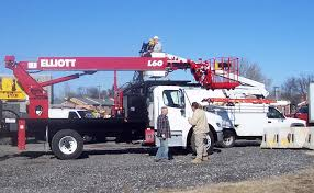 bucket truck and mechanic for hire by able group inc