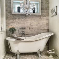 clawfoot tub bathroom design white large clawfoot tub and unique grey textured accent wall