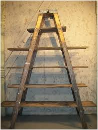 rustic wooden ladder shelf ehemco 5 tier bookcase shelf ladder