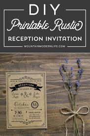 printable black diy reception only invitation template