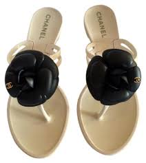 chanel jelly sandals up to 70 off at tradesy