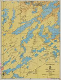 Old World Map Poster by Print Of Minnesota Ontario Border Lakes Western Part Basswood Lake