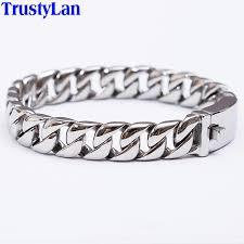 mens bracelet steel images Trustylan fashion new link chain stainless steel bracelet men jpg