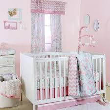 Zig Zag Crib Bedding Set The Peanut Shell 4 Piece Baby Girl Crib Bedding Set Pink And