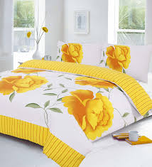 Yellow Duvet Cover King Rosaleen Polycotton Duvet Quilt Cover With Pillow Cases Single