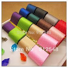 printed ribbon online shop free shipping dot printed ribbon 1 1 2 38mm satin