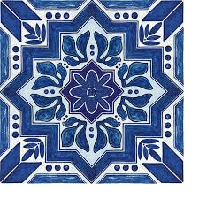 12 x12 flooradorn blue and white moroccan title set of 6