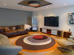Orange And Brown Area Rugs Contemporary Area Rugs With A Patterned Wooly Material To Create A