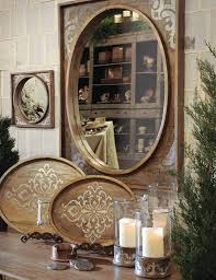 Large Mirror Gg Collection Heritage Large Mirror Wood And Metal Inlay Gracious