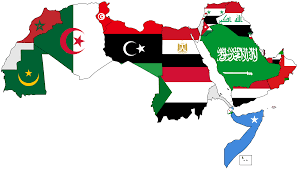 World Map With Flags File A Map Of The Arab World With Flags Png Wikimedia Commons