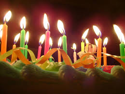 birthday cake candles wallpaper 1024x768 23884