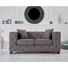 Grey Fabric Chesterfield Sofa fordham chesterfield grey fabric two seater sofa fads