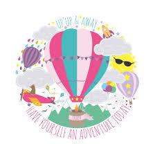 personalised up up u0026 away kids air balloon adventure print