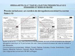 tenue d un bureau de vote république de guinee 2e tour de l election presidentielle ppt