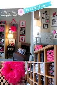 craft room pink black and white a pop of pretty wall ideas black white hot pink just add the lime green and this