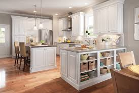 kitchen featuring open storage cabinets from timberlake cabinets