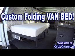 bug out camper van build part 4 folding bed brentwood rv