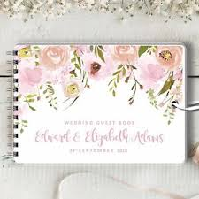 personalized wedding guest book personalised wedding guest book trailing pinks blank message