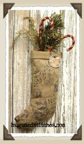 country and primitive ornaments at hugsandstitches