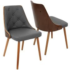 Modern Walnut Dining Chairs Carson Arvika Mid Century Modern Walnut Wood Dining