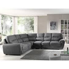 canap d angle assise profonde canapé d angle gauche avec large espace d assise en tissu gris