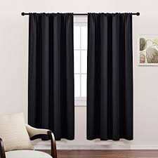 Thermal Energy Curtains Living Room Blackout Curtains 72 Solid Rod