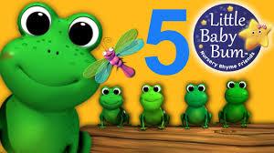 five little speckled frogs nursery rhymes from littlebabybum