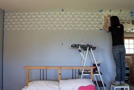 wall pattern for bedroom update your home with trendy stenciled walls paint pattern