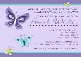 beautiful butterfly custom printable baby shower invitation