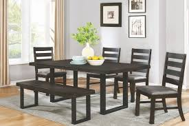murphy wire brushed mineral rectangular dining room set from