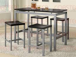 5 piece wood and metal counter height dining set by coaster 150095