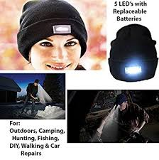 knit hat with led lights hk sport 5 led beanie hat with lights angling hunting cing
