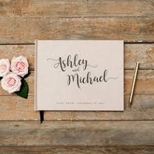 personalized guestbook custom last name calligraphy wedding guest book calligraphy