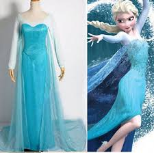 frozen costume new frozen princess snow elsa flowery gown dress