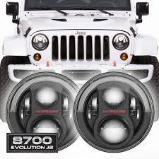jeep wrangler light grey jw speaker 8700 evolution j2 jeep wrangler led headlights