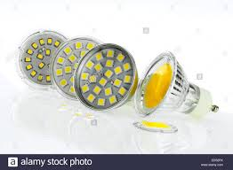 a few gu10 led bulbs with different sizes chips and cooling stock