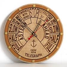 Wooden Wall Clock Buy Engine Order Telegraph Wooden Wall Clock At Woodandroot For