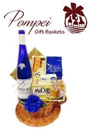 Winebaskets Something Blue Wine Gift Basket By Pompei Baskets
