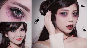 easy halloween makeup l cute vampire youtube